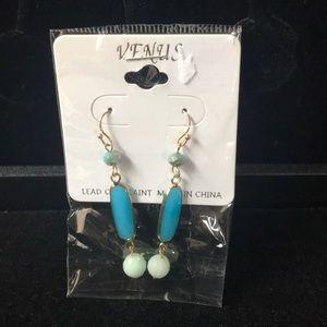 Pretty blue dangle earrings